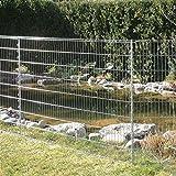 bellissa Teichschutz-Zaun Set - 92883 - Funktionaler Zaun für Abgrenzungen im Garten oder als Kleintiergehege - Schutzzaun für...