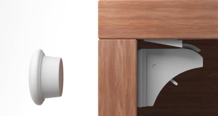 ➀ Magnetschloss Kindersicherung von Schranktüren Schubladen