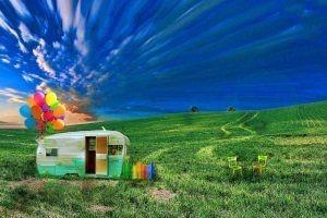 Kindersicherung auf dem Campingplatz. Der kindersichere Wohnwagen und das kindersichere Wohnmobil