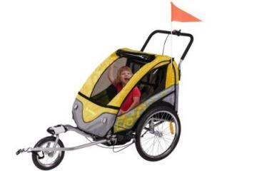 Fahrradanhänger zum Transport von Kindern