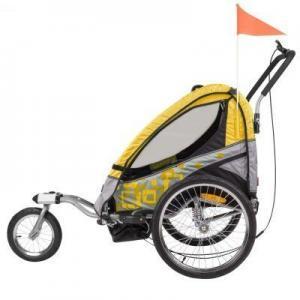 Fahrradanhaenger für Kinder Seitenansicht